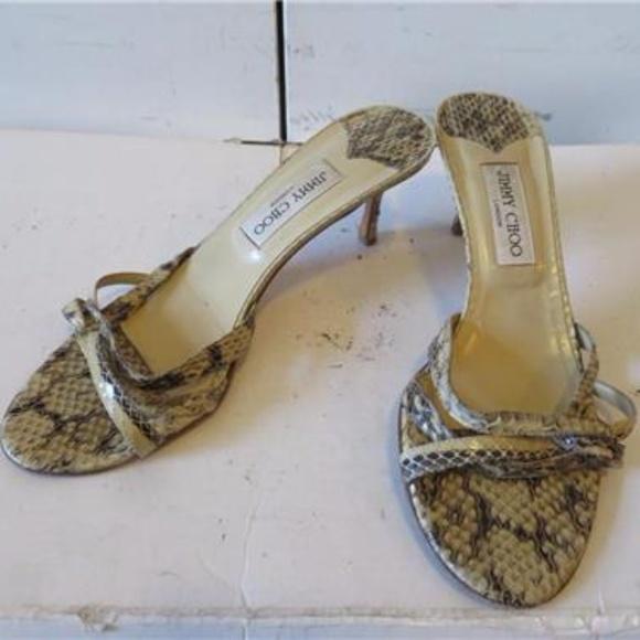 6b004f6cd096 Jimmy Choo Shoes - AUTHENTIC JIMMY CHOO SNAKESKIN SANDAL HEELS - 39